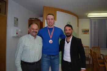 Župan Kastelic sprejel bronastega Roka Eršteta