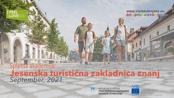 Spletna akademija: Jesenska turistična zakladnica znanj