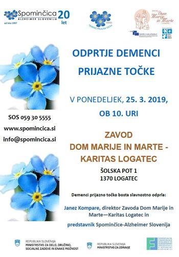 ODPRTJE DPT V ZAVODU DOM MARIJE IN MARTE - KARITAS LOGATEC