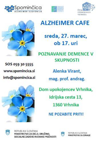ALZHEIMER CAFE V DOMU UPOKOJENCEV VRHNIKA