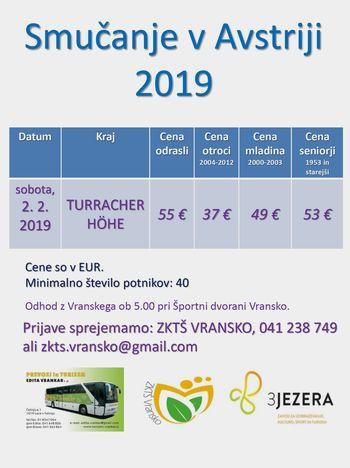 ENODNEVNO SMUČANJE V TUJINI, 2. 2.  2019 - TURRACHER HÖHE