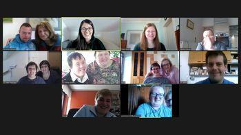 Prešernov dan in virtualno pustovanje v Medobčinskem društvu Sožitje