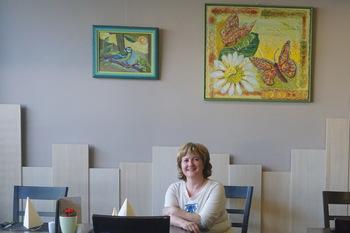 Helena Testen razstavlja v Olimiah