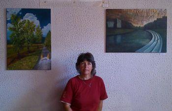 Irena Gorenc okrasila stene Trdinovega hrama
