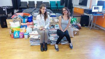 Akcija zbiranja papirja za zapuščene živali v MC Mengeš