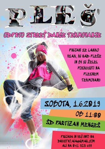 PLEŠ' odprto street dance tekmovanje