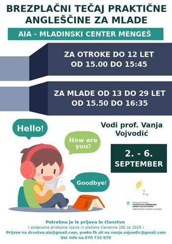 Brezplačni tečaj praktične angleščine za mlade