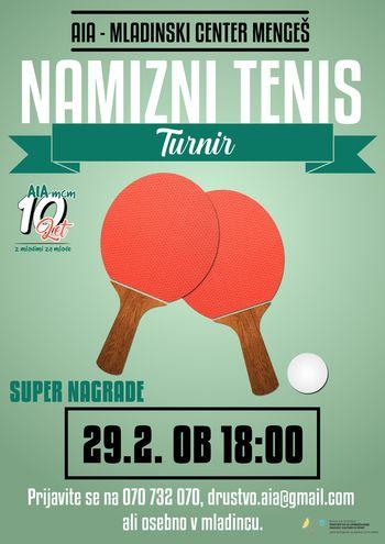 Turnir v namiznem tenisu