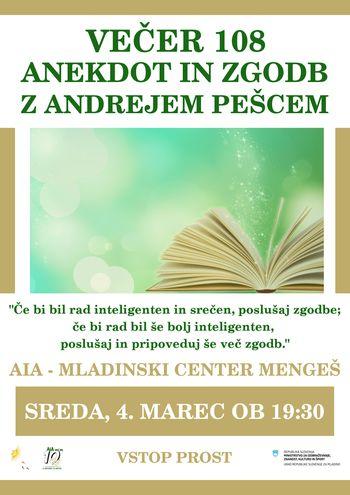 Večer 108 anekdot in zgodb z Andrejem Pešcem