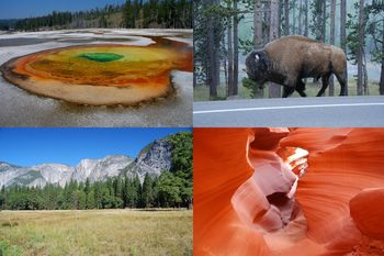 9666 km po Nacionalnih parkih ZDA