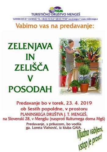 Predavanje o vzgoji zelenjave in zelišč v posodah