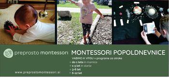Montessori Popoldnevnice v Vrhniški hiši otrok