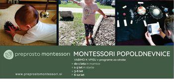 Montessori popoldnevnice - vpis