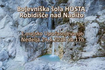 1.majska delavnica UPOČASNITVE na rajskem Robidišču nad Kobaridom