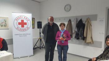 Slavica Derganc prejela bronasti znak Rdečega križa Slovenije