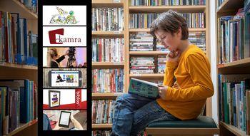 Vabljeni v virtualni svet knjig, časopisov in informacij preko e-knjižnice Domžale