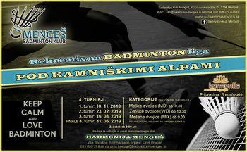 2. BADMINTON turnir PKA - Pod kamniškimi alpami