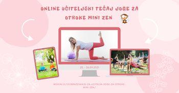 Učiteljski tečaj joge za otroke Mini zen