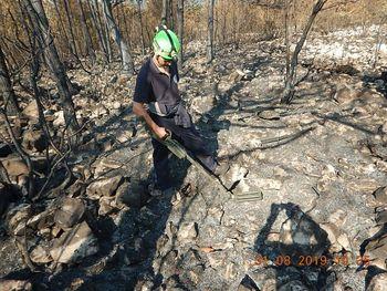 Neeksplodirana ubojna sredstva na območju požara Cerje 2019