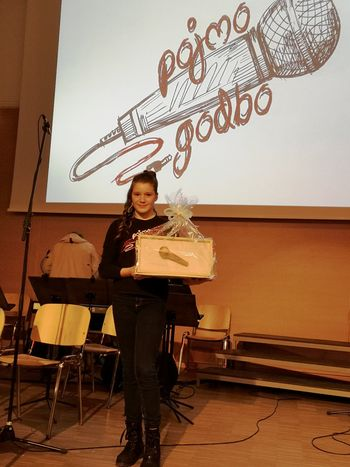 Tiani Gatej nagrada za petje
