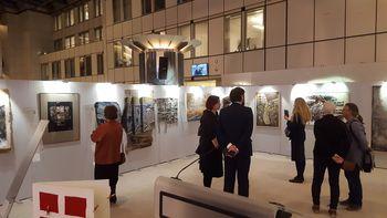 Katarina Spacal razstavljala v Bruslju