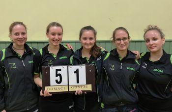 Mengeške igralke namiznega tenisa v finalu pokala Slovenije
