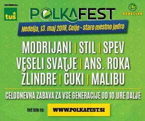 ZAPLEŠITE Z NAMI: PRIHAJA POLKAFEST 2018!    13. maj 2018 v Celju
