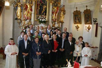 Zakonski jubilanti v cerkvi svetega Tomaža v Krašnji