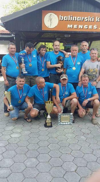 Ekipa BK Mengeš osvojila 10. jubilejno ligo v metanju podkev
