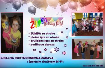 Zumbastičen rojstni dan za vaše otroke