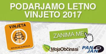 BREZPLAČNO osvoji LETNO VINJETO 2017