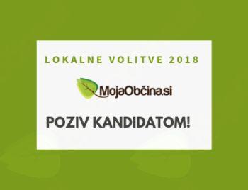 Poziv kandidatom . lokalne volitve 2018