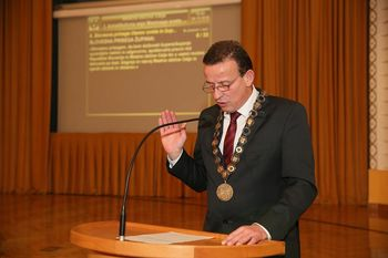 Župan Bojan Šrot in člani Mestnega sveta Mestne občine Celje zaprisegli