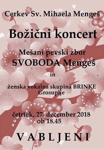 Božični koncert mešanega pevskega zbora SVOBODA Mengeš