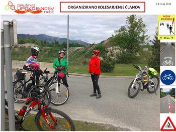 Upokojenci organizirano kolesarijo