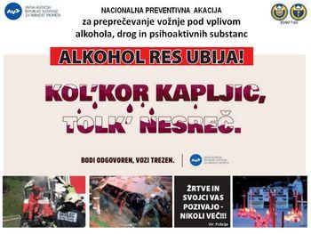 Nacionalna preventivna akcija za preprečevanje vožnje pod vplivom alkohola
