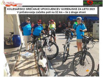 Upokojenci kolesarji aktivni tudi v vročinskem obdobju
