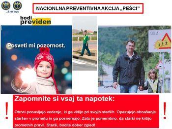 """Nacionalna preventivna akcija """"PEŠCI"""""""
