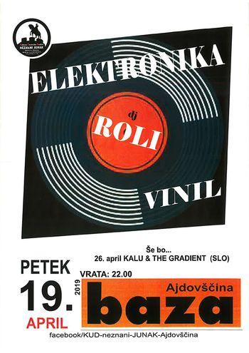 Koncert: DJ ROLI (elektronika na vinilu)