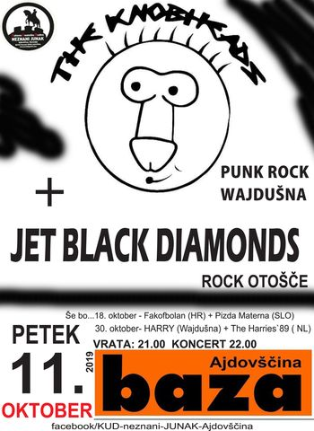 Koncert: The Knobheads in Jet Black Diamonds
