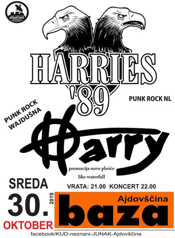 Koncert: Harries'89 in Harry
