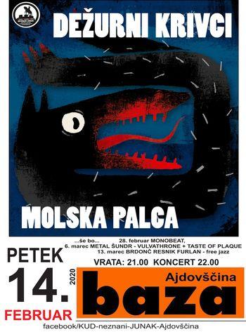 Koncert: Molska Palca in Dežurni krivci - ODPADE