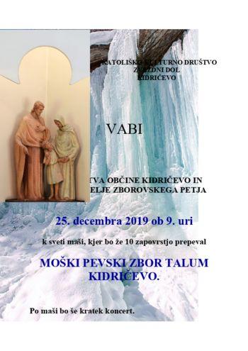 Sveta maša s koncertom MPZ Talum Kidričevo