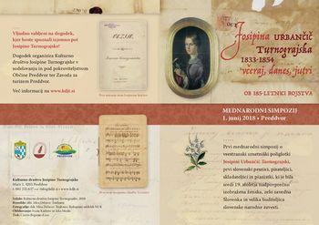 Mednarodni simpozij o Josipini Urbančič Turnograjski