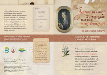 Mednarodni simpozij in zbornik o Josipini Urbančič Turnograjski