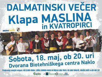 Dalmatinski melos, klapska pesem, vonj po morju v Naklem
