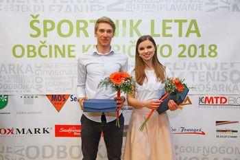 Katja Babič in Luka Sagadin sta naj športnika občine Kidričevo