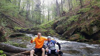 Jernej Ivanovič in Leon Kaučevič septembra na tekmi svetovnega formata v triatlonu v ZDA
