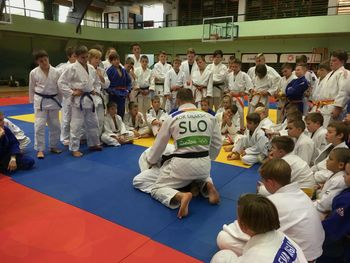 Judoisti Judo kluba Komenda trenirali z Rokom Drakšičem