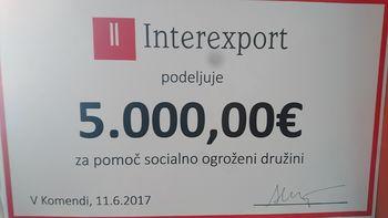 DONACIJA DRUŽBE INTEREXPORT